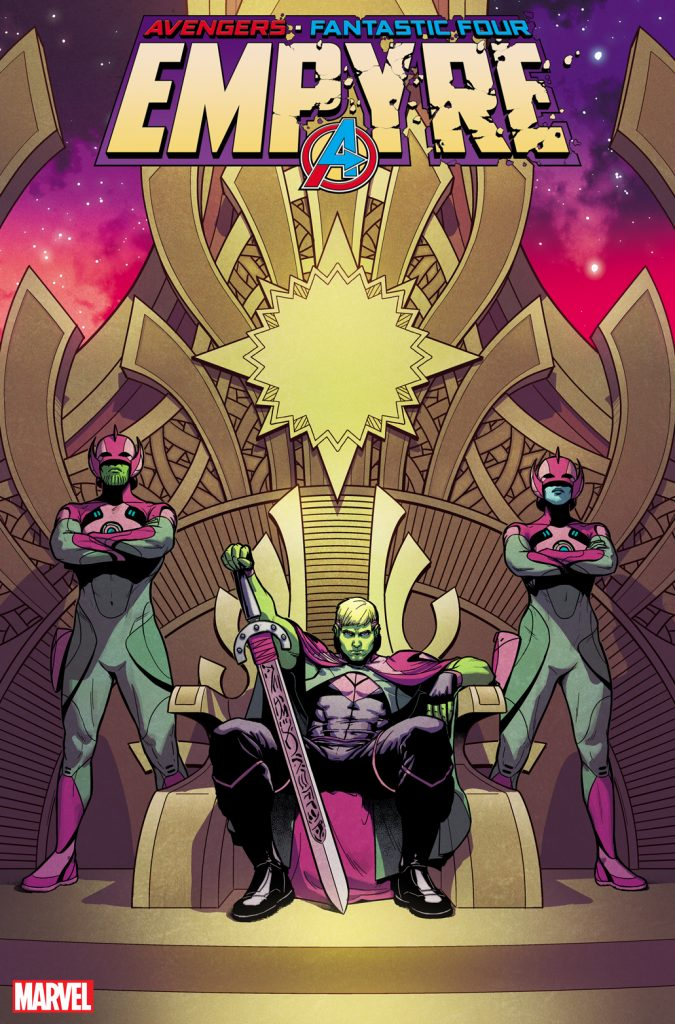 Marvel First Look: Witness Hulkling on the throne in Jamie McKelvie and Matt Wilson's 'Empyre' variant cover
