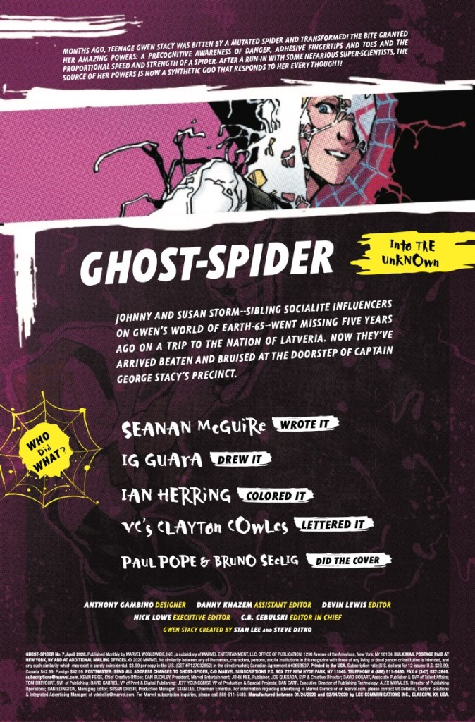 Marvel Preview: Ghost-Spider #7