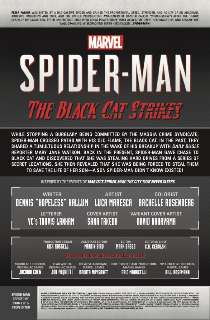Marvel Preview: Marvel's Spider-Man: The Black Cat Strikes (2020) #2 (of 5)