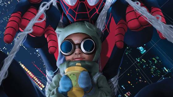 'See Baby Billie web-slinging through Brooklyn with her big bro!'