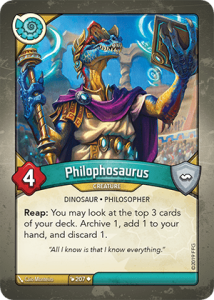 Mososaurus: Another paleontology Easter egg in Keyforge?