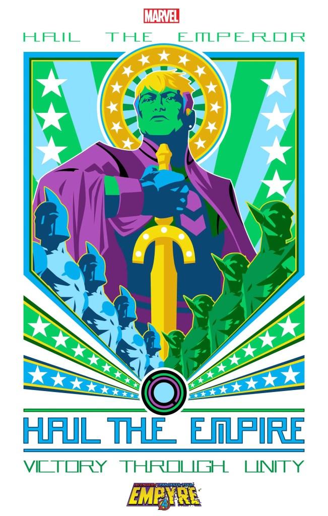 "Marvel reveals 'Empyre' propaganda teaser ""Hail the Emperor"""