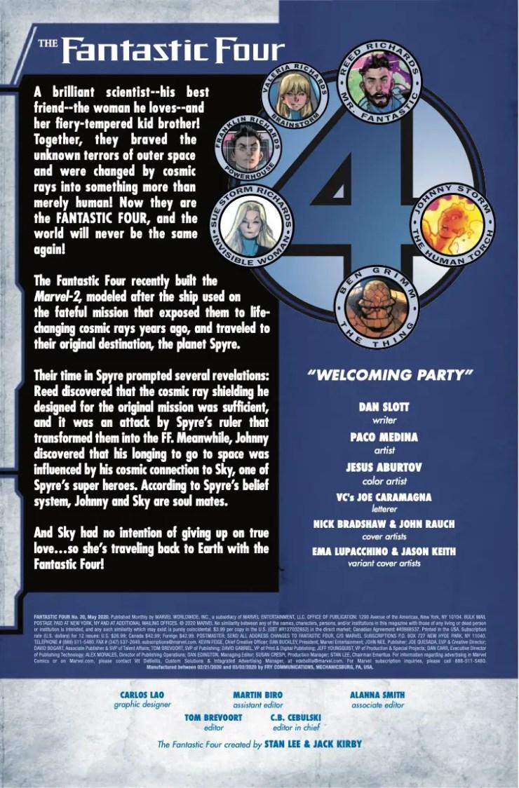 Marvel Preview: Fantastic Four #20
