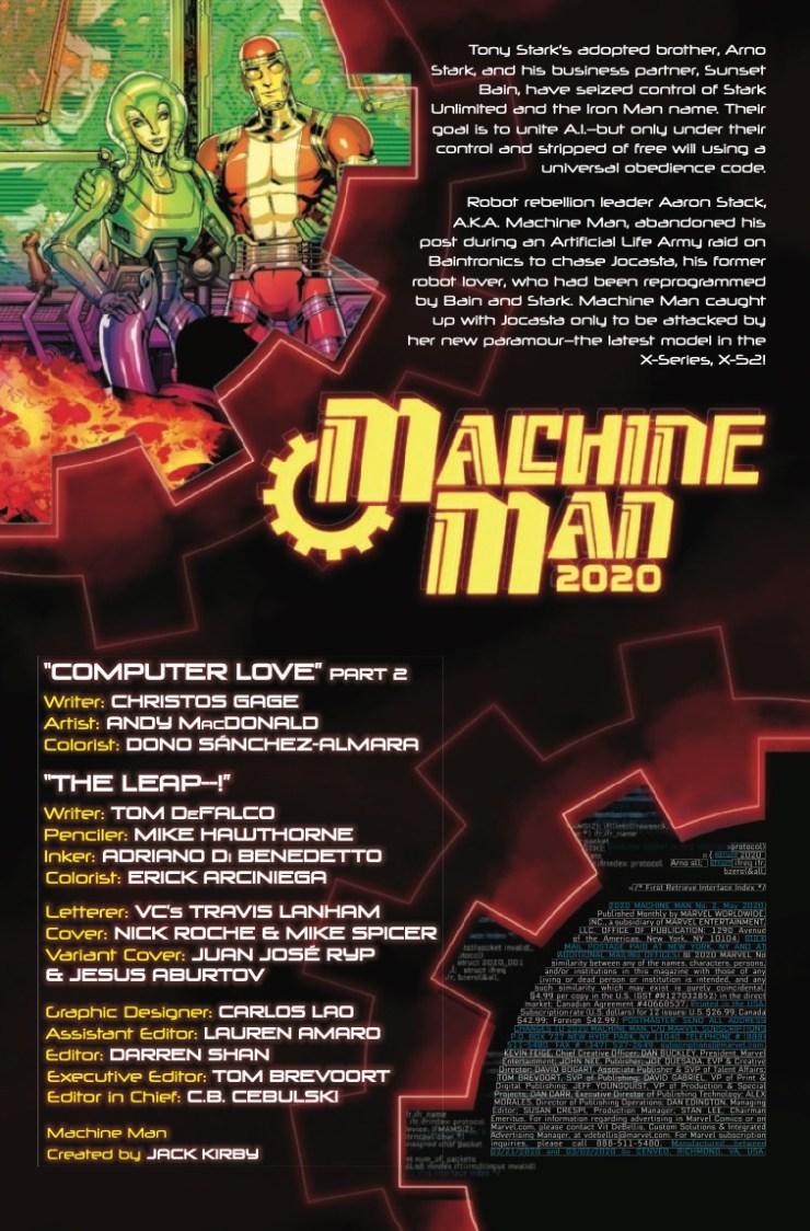 Marvel Preview: 2020 Machine Man #2