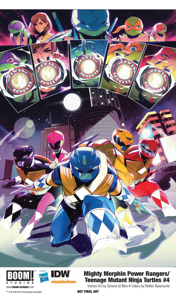 BOOM! Preview: Mighty Morphin Power Rangers/Teenage Mutant Ninja Turtles #4