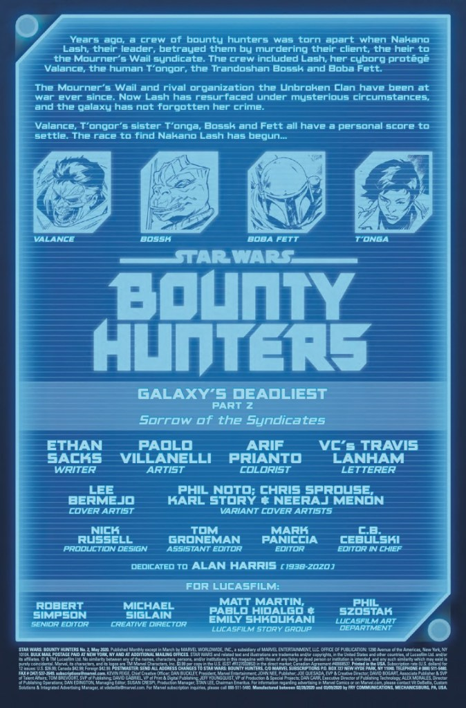 Marvel Preview: Star Wars: Bounty Hunters #2