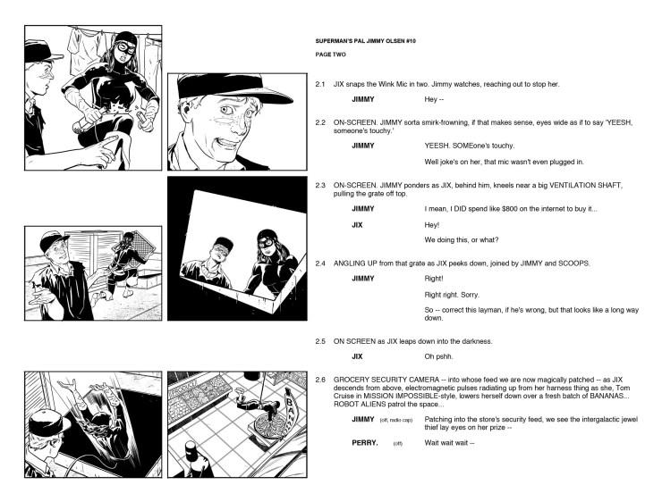 DC Comics releases 'Superman's Pal Jimmy Olsen' #10 scripts and page comparison