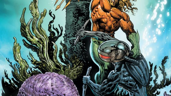 Black Manta blasts into a museum looking for an Atlantean artifact!