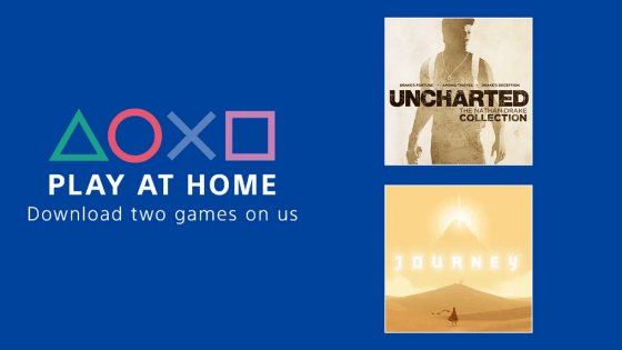 Sony's 'Play At Home' initiative offers Uncharted collection and Journey free on PS4