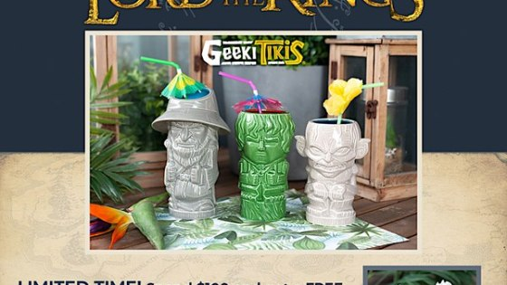 Toynk Toys announces their new line of Geeki Tikis featuring characters from Lord of the Rings.
