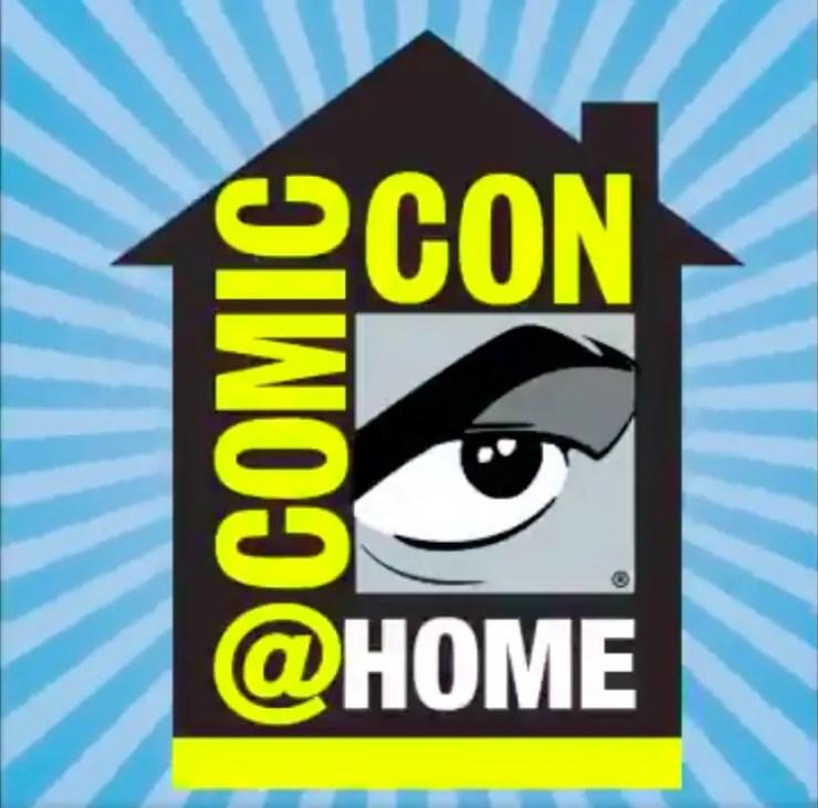 #ComicConAtHome Logo