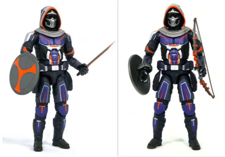 Taskmaster holding weapons