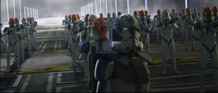 Clone Wars: Jesse cutting off Rex and Ahsoka's escape