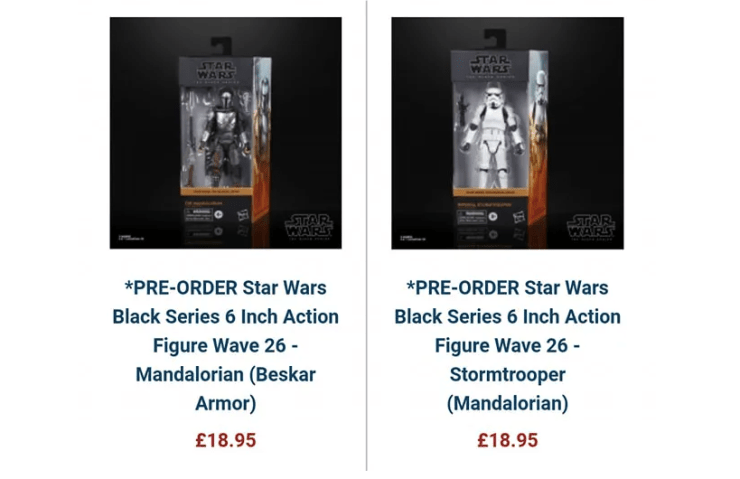 New Black Series packaging