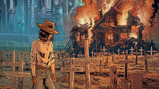 'Join the Future' blends western and sci-fi ideas very well.