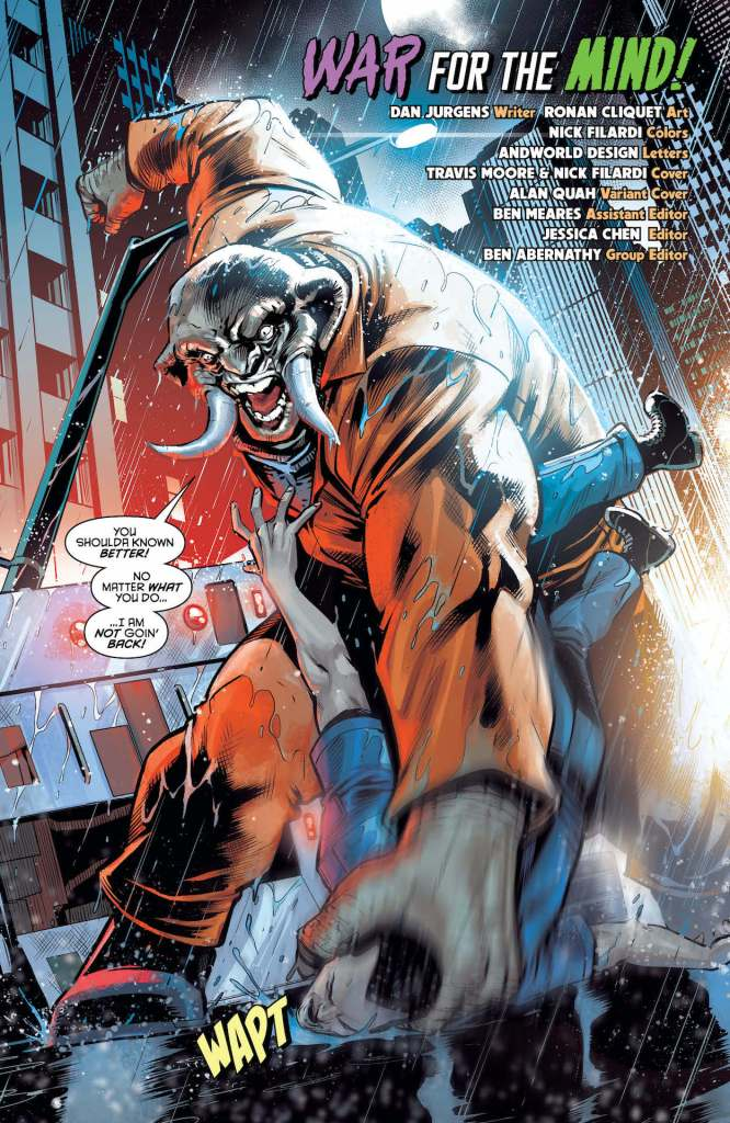 In Nightwing #71, having a chat with the Clown Prince of Crime is scary enough…