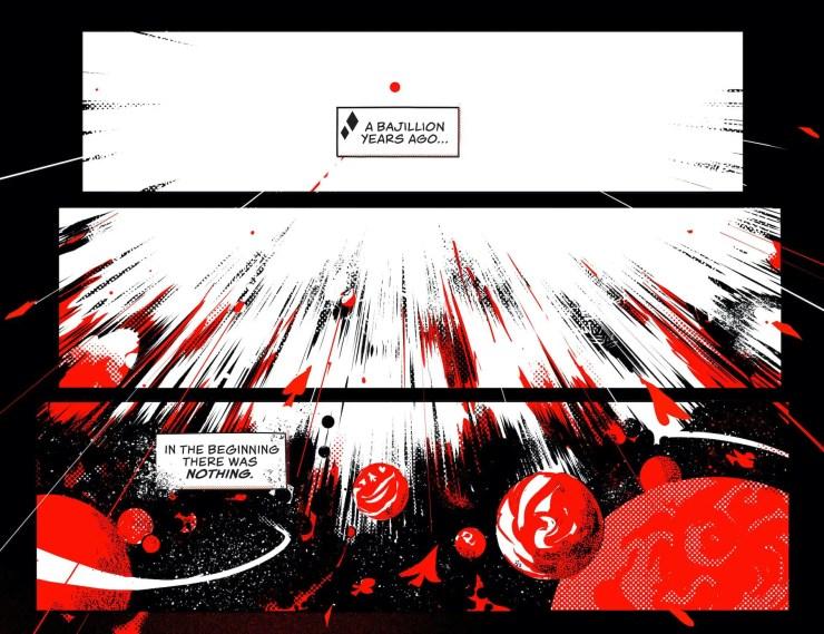 Harley Quinn Black + White + Red #5