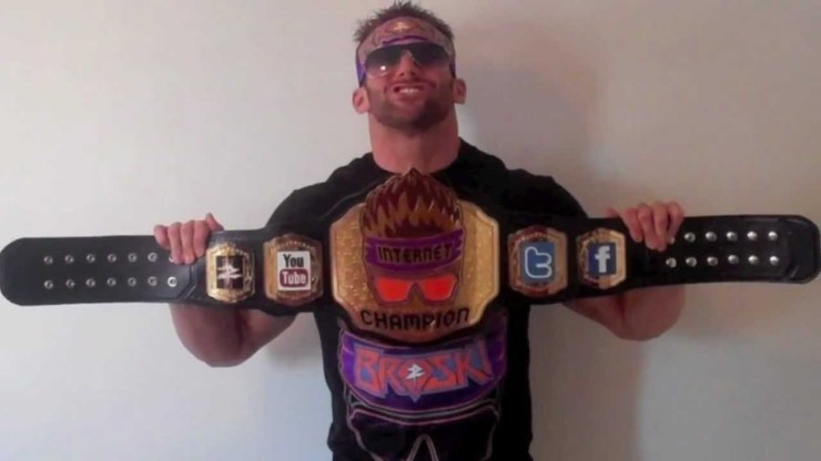 Zack Ryder with the Internet Championship