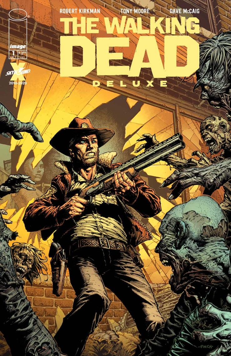 The Walking Dead Deluxe variant cover by David Finch