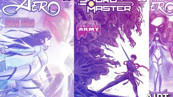 Sword Master and Aero return this August at Marvel Comics.