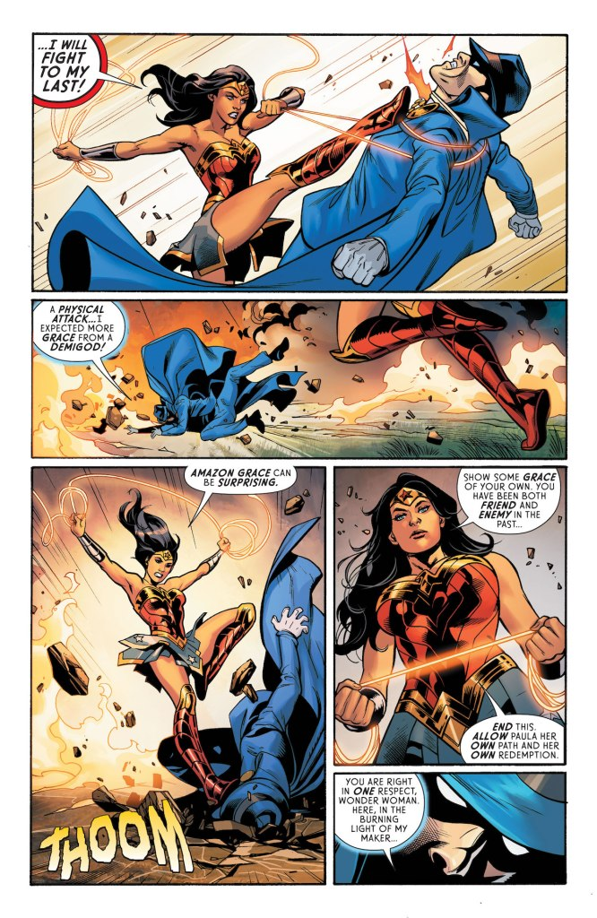 Wonder Woman puts herself on the line to save Warmaster!