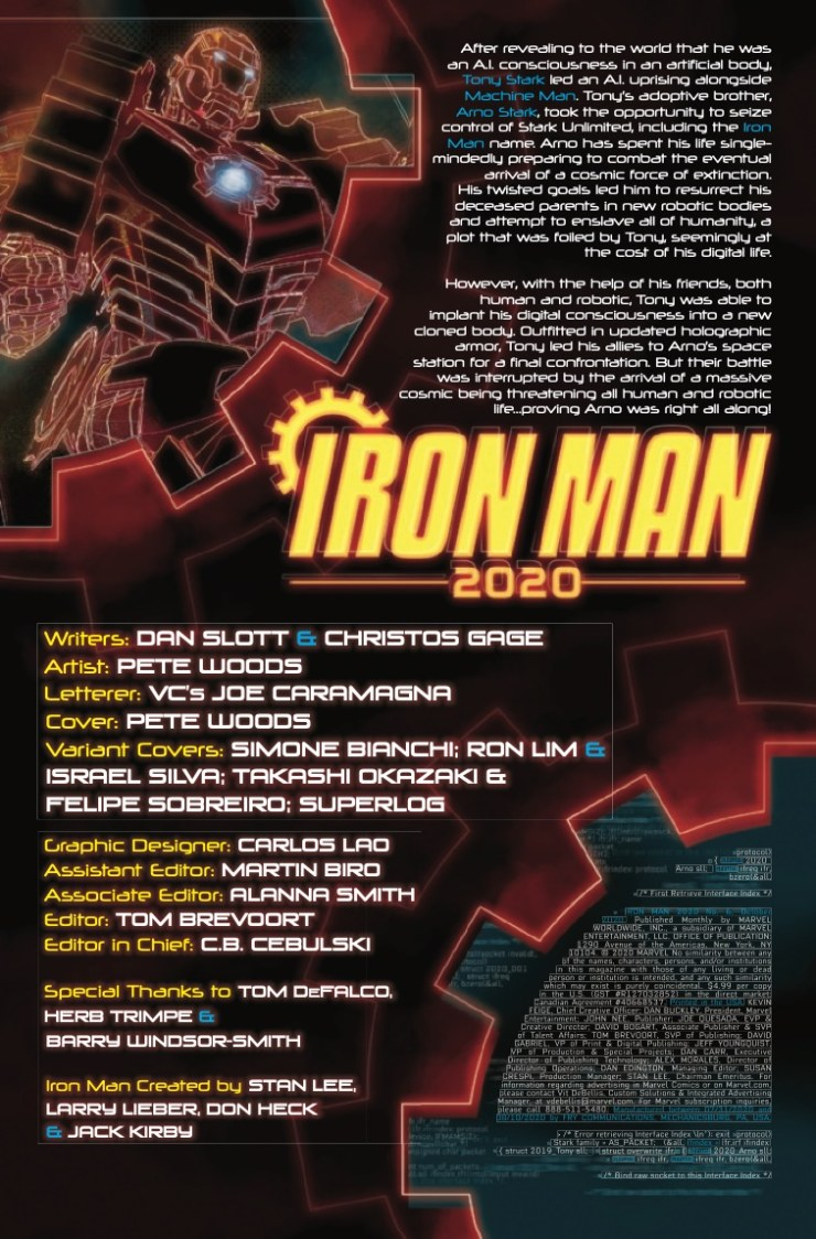 Marvel Preview: Iron Man 2020 #6
