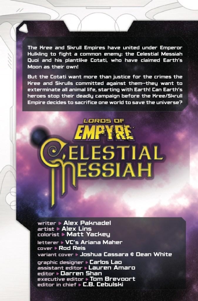 Marvel Preview: Lords Of Empyre: Celestial Messiah #1