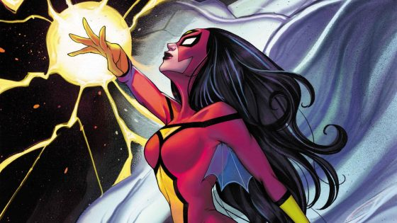 Check out the new variant cover for Spider-Woman #100 out this October.