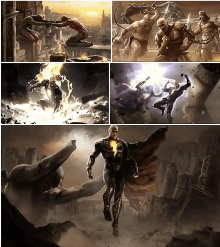 DC FanDome Black Adam movie art