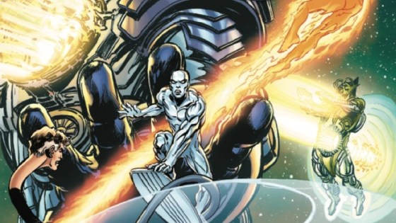 The Silver Surfer leads the Fantastic Four in a mad race to find the missing Galactus.