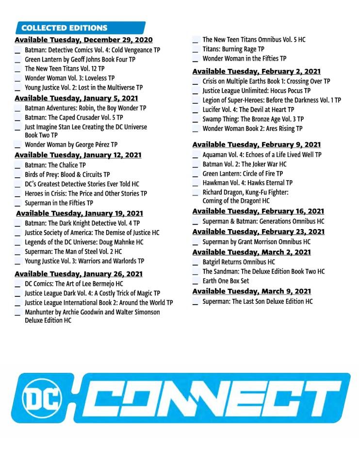 DC Comics Solicitations December 2020