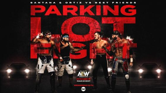 Chuck Taylor, Trent, Santana, and Ortiz put on the greatest parking lot match in the history of wrestling.