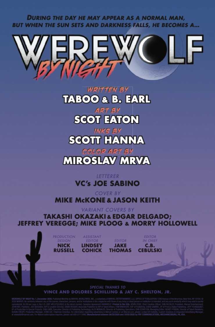 Marvel Preview: Werewolf by Night #1