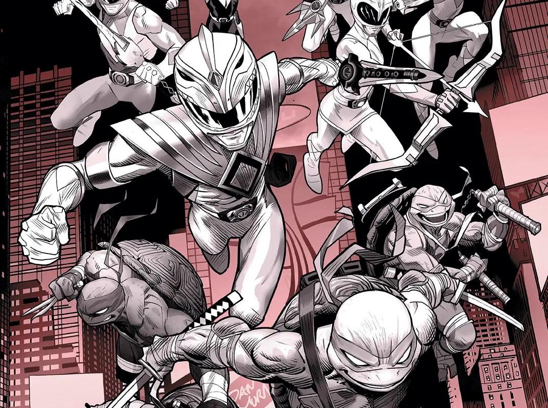 Mighty Morphin' Power Rangers/Teenage Mutant Ninja Turtles Black and White