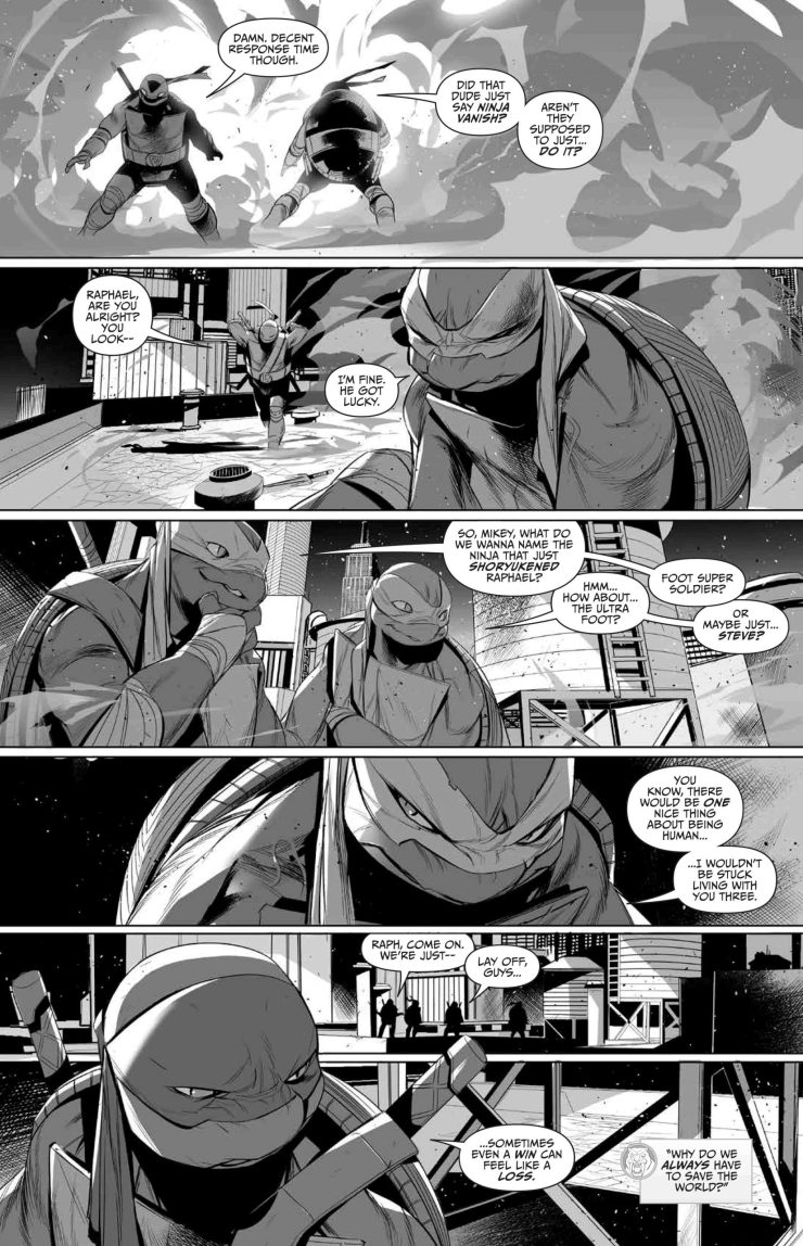 Mighty Morphin Power Rangers/Teenage Mutant Ninja Turtles Black and White Edition