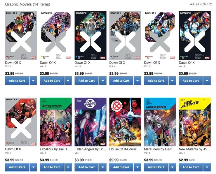 Dawn of X X-men Comixology sale black friday
