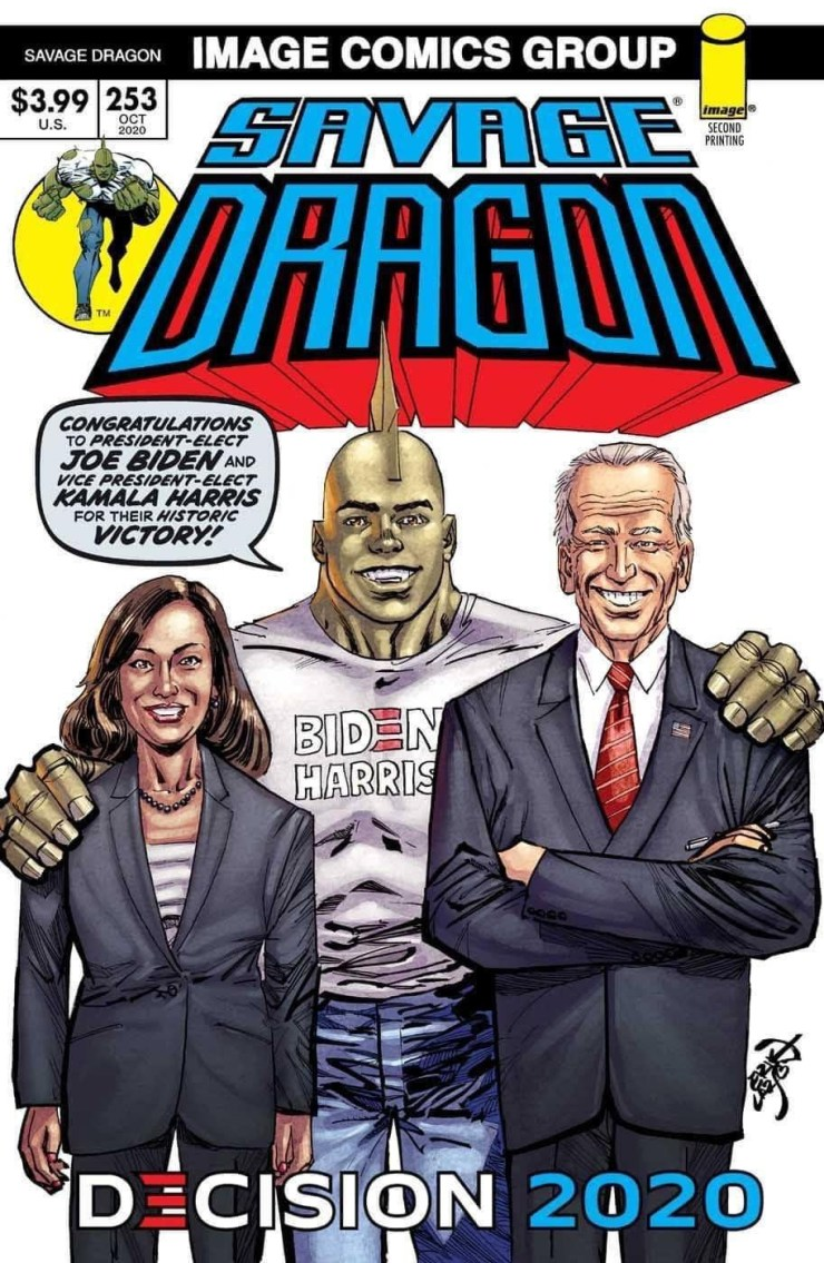 Savage Dragon Joe Biden Kamala Harris