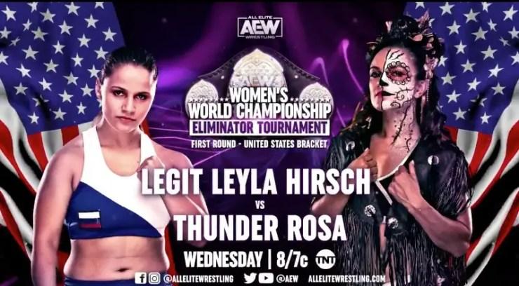 AEW Dynamite - Leyla Hirsch vs. Thunder Rosa