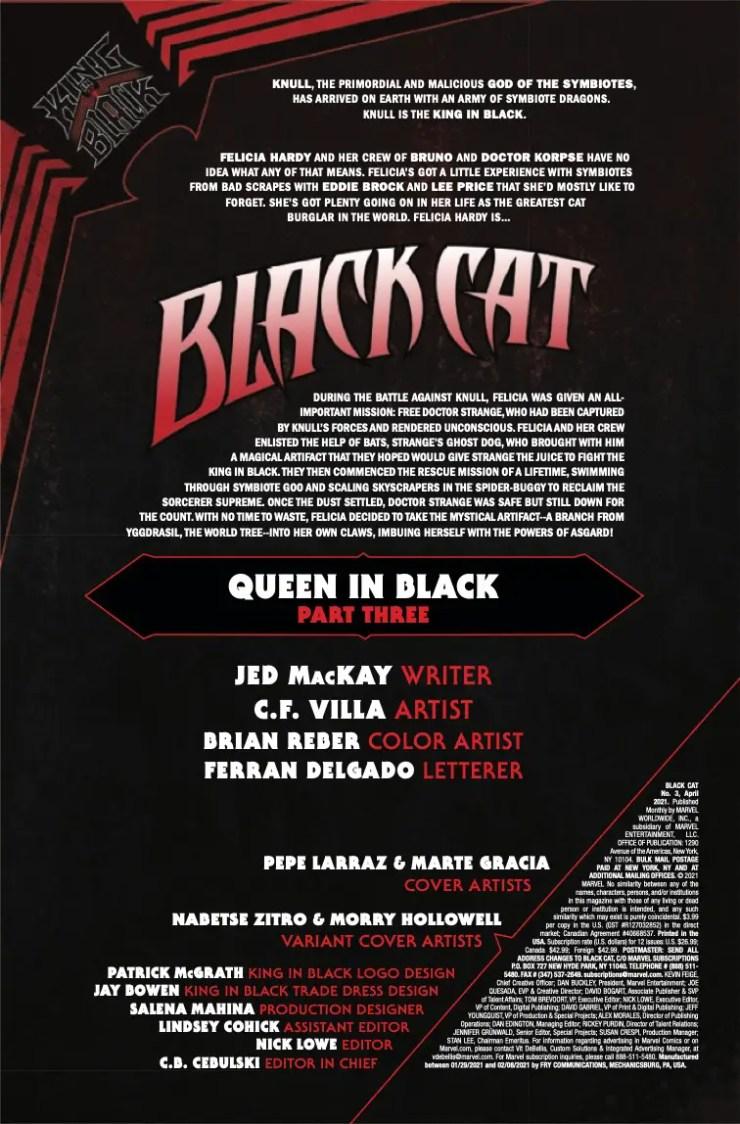 Marvel Preview: Black Cat #3