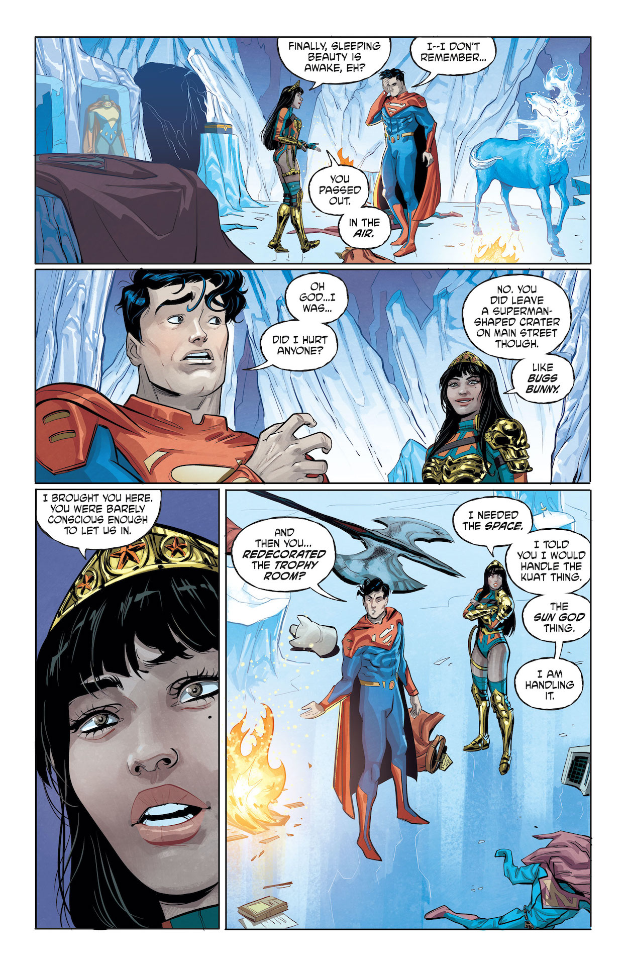 is superman dating wonder woman