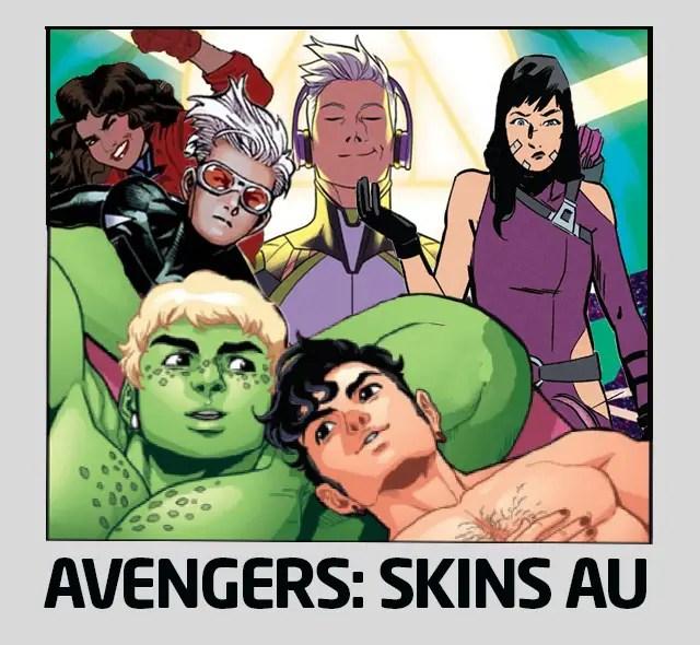 Avengers: Skins AU Marvel Comics show WandaVision