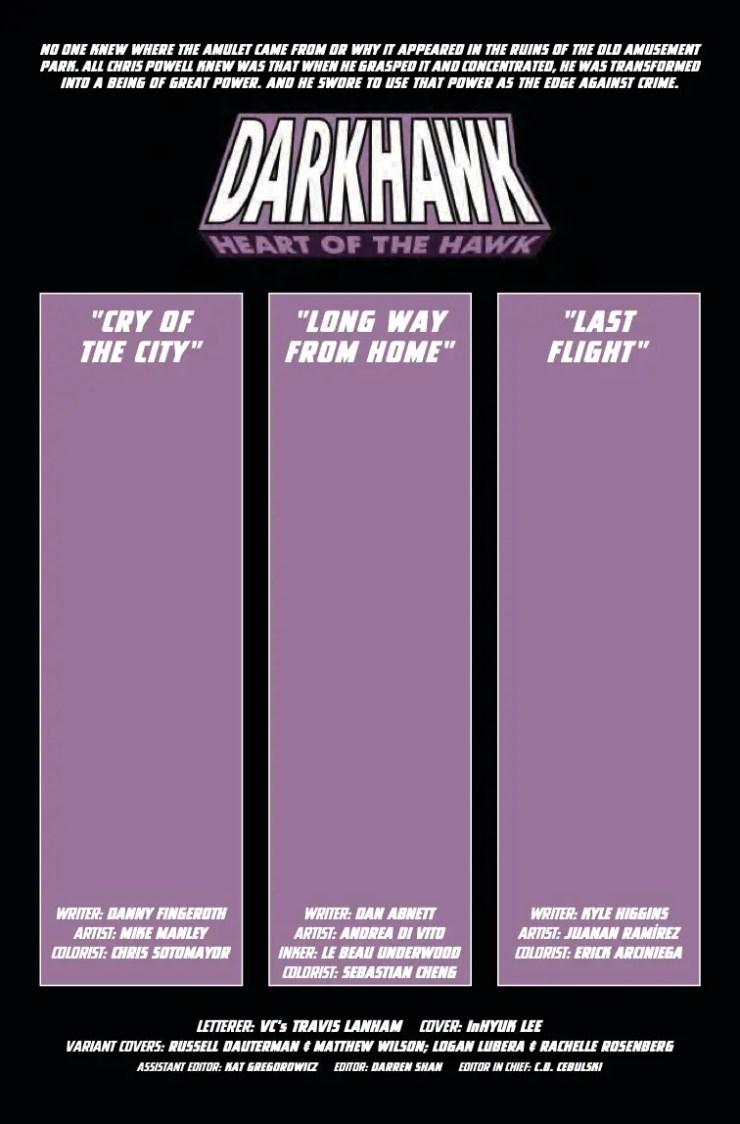 Marvel Preview: Darkhawk: Heart of the Hawk #1