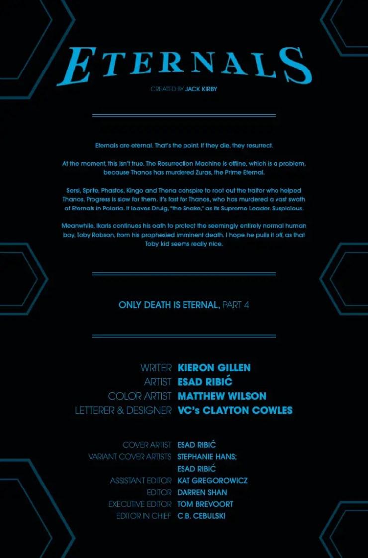 Marvel Preview: Eternals #4