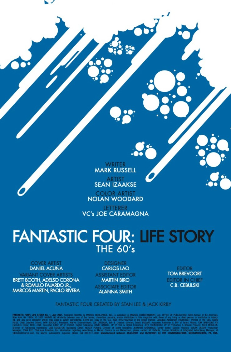 Marvel Preview: Fantastic Four: Life Story #1