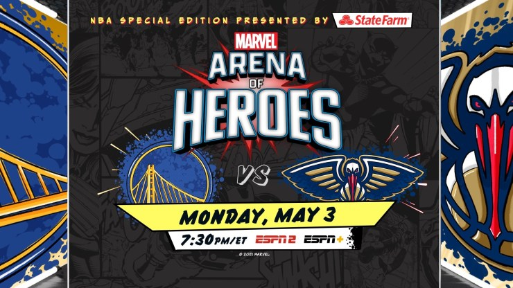 Marvel and ESPN team up for Golden State Warriors vs. New Orleans Pelicans game
