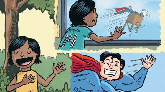 Drew Brockington brings superheroes into the suburbs with 'Metropolis Grove'