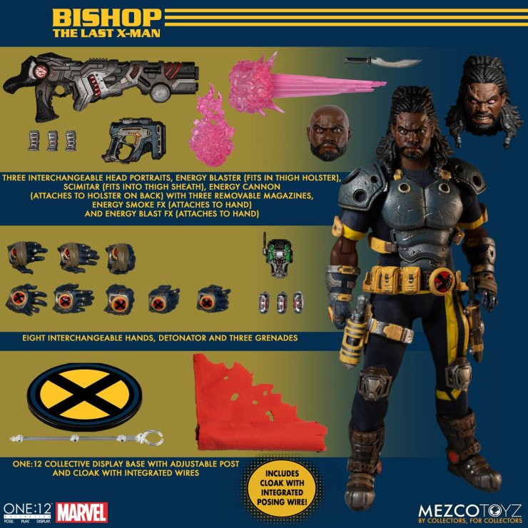 Mezco Toyz unveils X-Men One:12 Collective Bishop