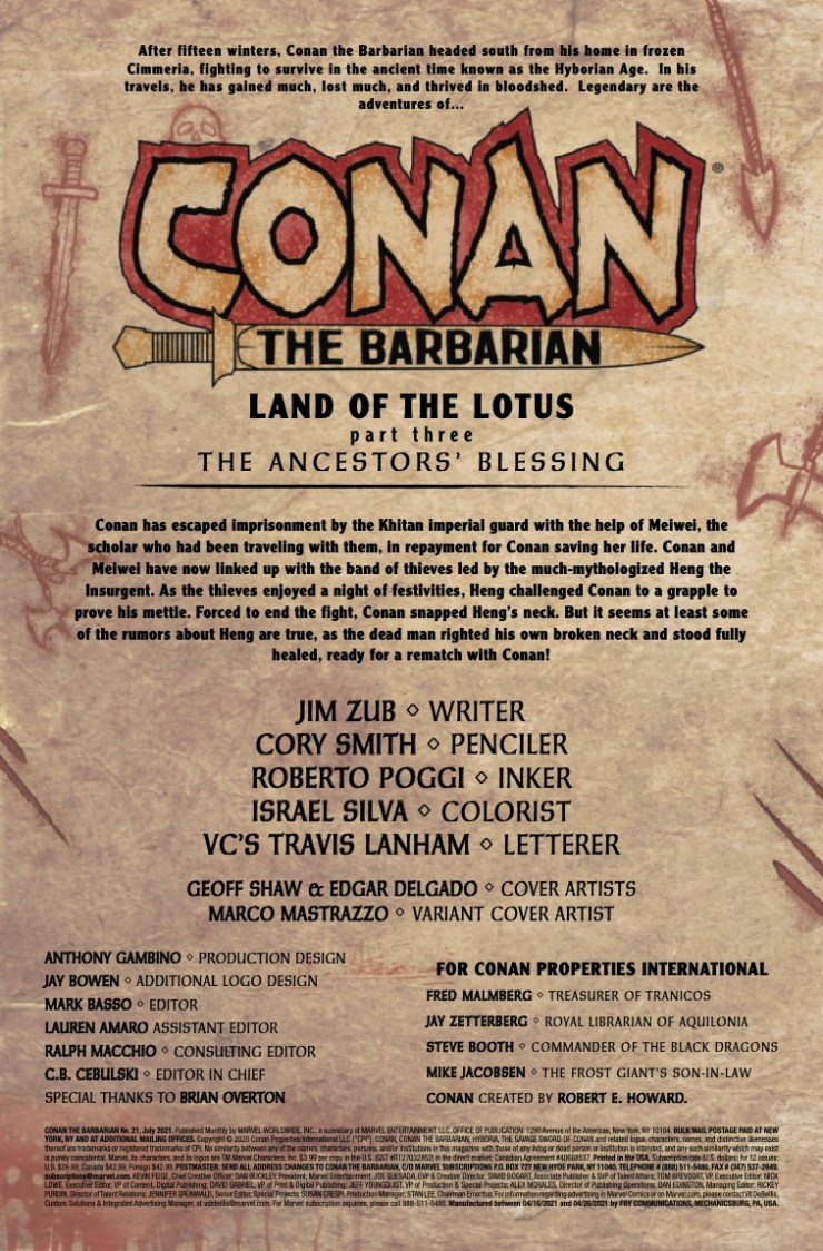 Marvel Preview: Conan the Barbarian #21