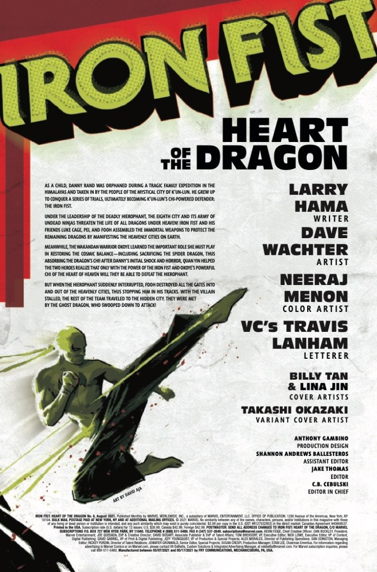Marvel Preview: Iron Fist: Heart Of The Dragon #6