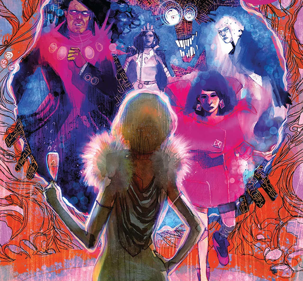 'New Mutants' #19 grabs some drinks and snacks at the Hellfire Gala